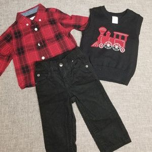 Gymboree boys Christmas outfit 12 to 18 months